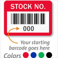 Barcode label with inventory information