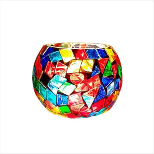 handmade mosaic glass candle stands