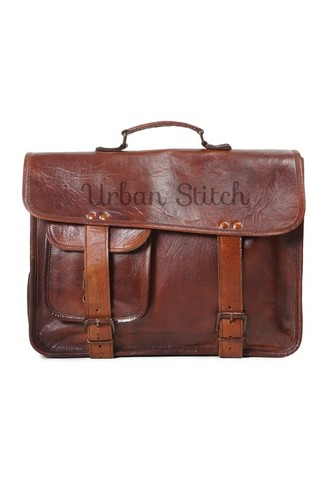 Handmade Pure Leather Natural Tanned Vintage Messe