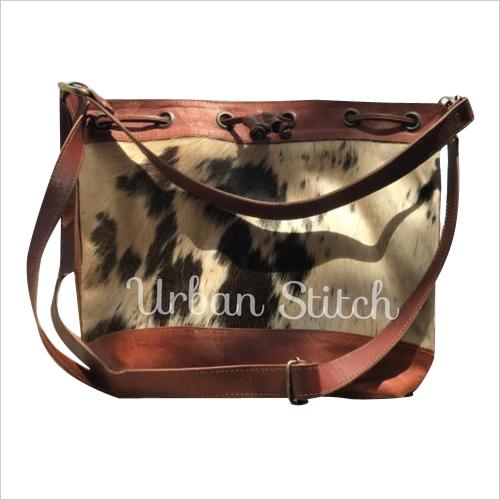 handmade natural leather women sling bag cum tote bag