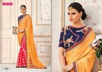 Half N Half Party Wear Designer Saree