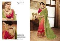 Indian Designer Satin Fabric Saree