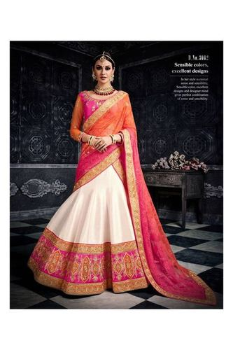Shaded Colour Wedding Lehenga Cholis