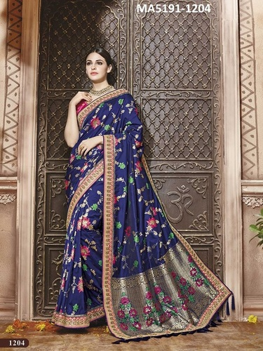 Blue Colour Silk Designer Saree