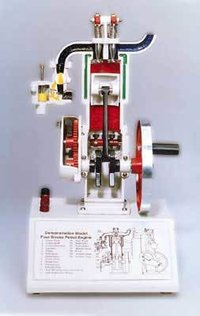 Sectional Working Model of 4 Stroke Petrol Engine