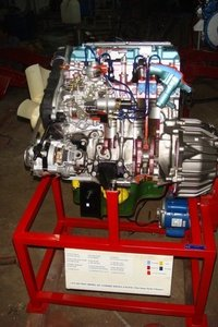 4 stroke 6 cylinder petrol engine ( motor driven actual cut-sectional )