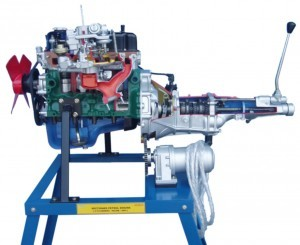 Petrol engine with gear box ( actual cut sectional )