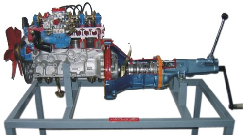 Diesel engine with gear box ( actual cut sectional )