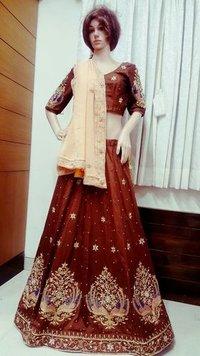 Brown Designer Lehenga
