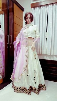 White Designer Lehenga