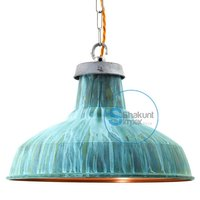 Blue Industrial Hanging Lamp