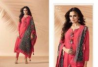 Red Designer Churidar Salwar Kameez