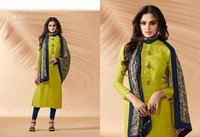 Yellow Churidar Salwar Kameez