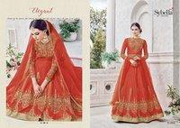 Pure Silk Party Wear Salwar Suit