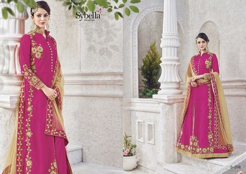 Pink Designer Party Wear Suit