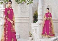 Pink Designer Party Wear Suit