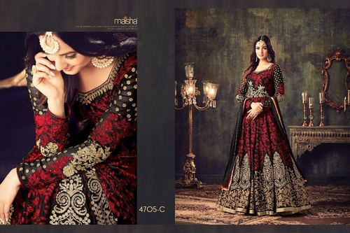 Heavy Embroidery Work Bridal Salwar Suit