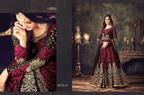 Black Heavy Designer Anarkali Salwar Suit