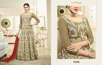 Light Green On White Resham Work Salwar Suit