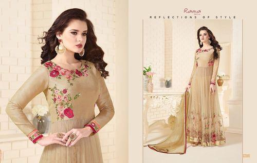 Party Wear Silk Designer Salwar Suit