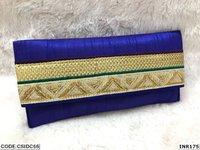 Ethnic Raw Silk Clutch Lace Clutch