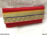 Ethnic Raw Silk Clutch Lace Clutch