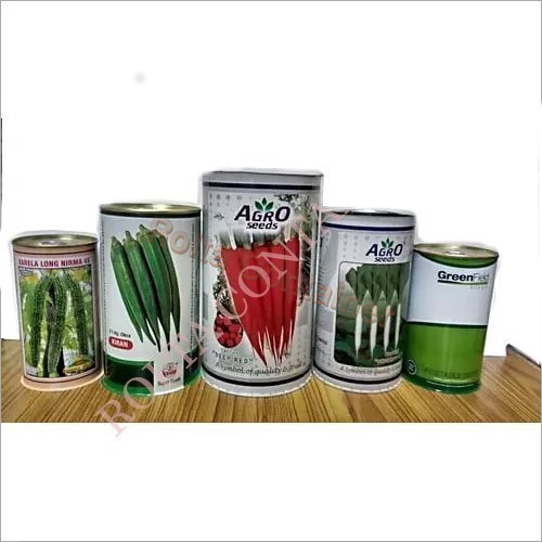 Vegetable Seeds Tin Can
