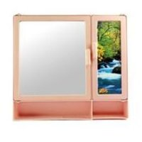 17416 Bathroom Cabinet S-Shelf Pink