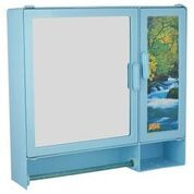 17416 Bathroom Cabinet S-Rod Blue