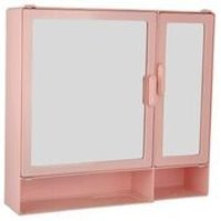 17416 Bathroom Cabinet D-Shelf Pink