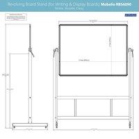 Revolving Whiteboard Stand Mobelio (for 2x3 Feet)