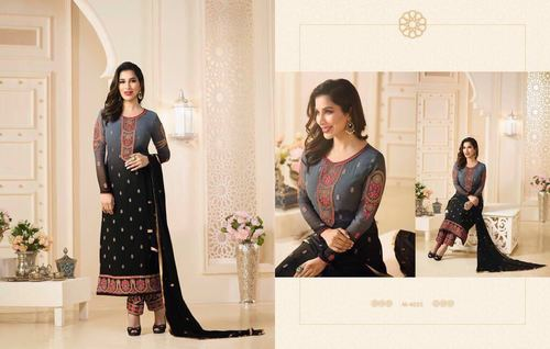 Black And Green Shaded Salwar Kameez