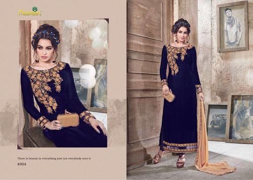 Velvet Party Wear Salwar Suit