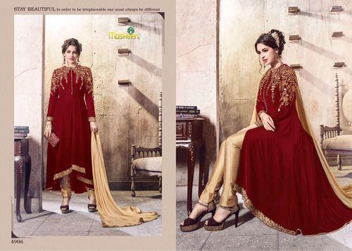 Pant style Velvet Salwar Kameez