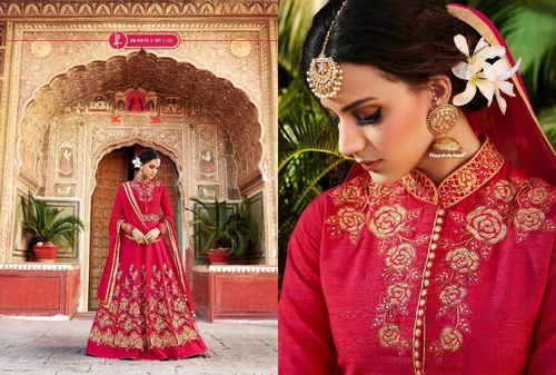 Red Party Wear Bridal designer Gown