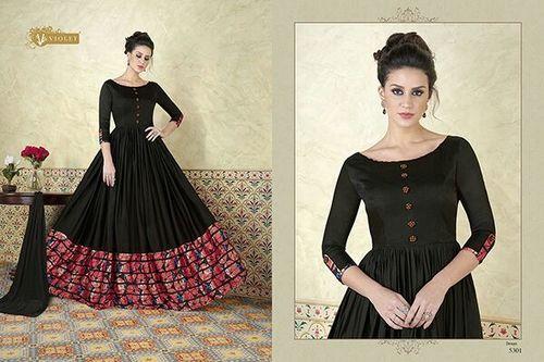 Model Satin Fabric Designer Gown