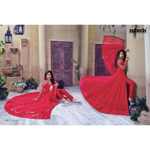 Red Designer Georgette Suit