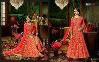 Red Heavy Bridal Anarkali Salwar Suit
