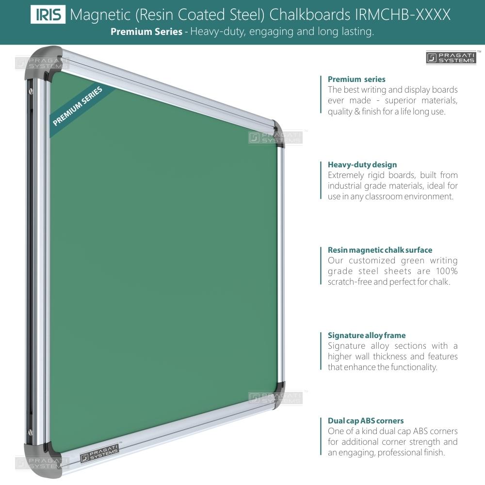 Iris Heavyduty Magnetic (Resin Coated) Chalkboards