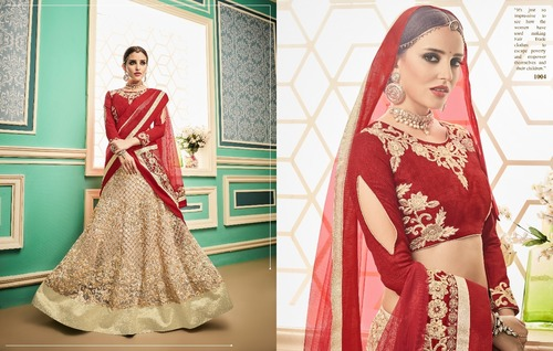 Red And White Bridal Lehenga Choli