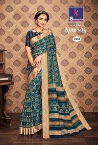 Golden Printed Saree