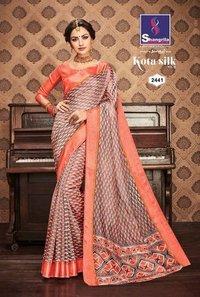 Silk Printed Designer Saree
