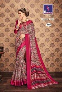 Printed Indian Causal Saree