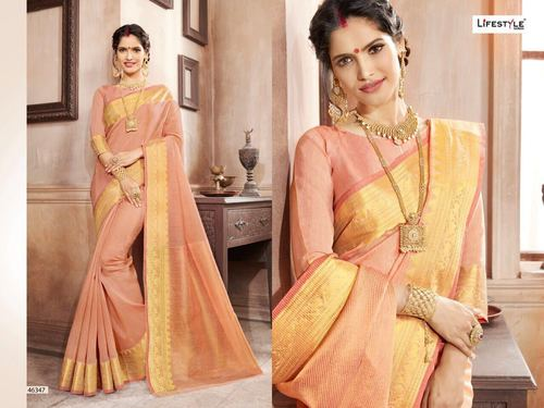 Weaving Range Fancy Fabric Designer Saree