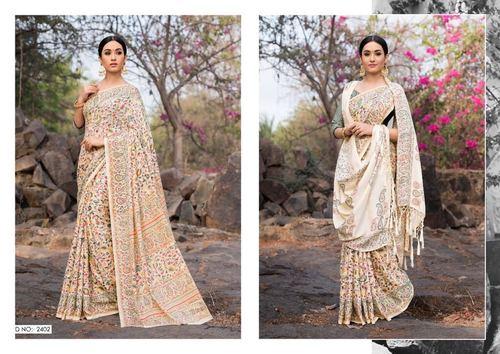 Pashmina Designer Saree With Showl