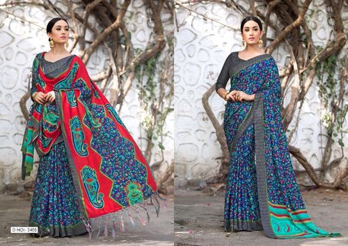 Pashmina Digital Printed Saree