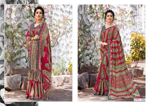 Pashmina Printed Designer Saree