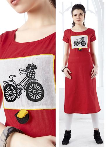Red Designer Kurti
