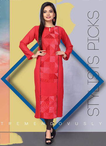 Embroidered A-line kurti