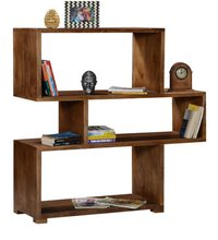 Handcrafted Book Shelf in Walnut Finish by Wudstuk